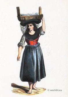Pardilhó Merchant folk costume 1843.