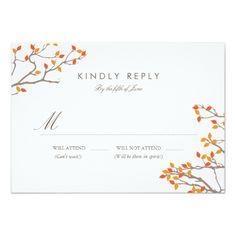 Summer Wedding RSVP Blissful Branches Wedding RSVP Card