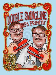 Cerveja Trinity Double Swingline, estilo Imperial / Double IPA, produzida por Trinity Brewing Company, Estados Unidos. 8.2% ABV de álcool.