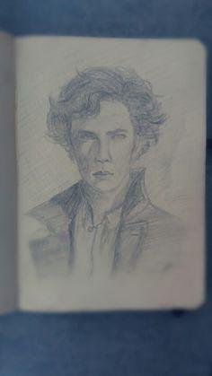 Sherlock by Filip Uhrin Sherlock Drawing, Make You Cry, Manga Anime, Fantasy Art, My Arts, Drawings, Fantastic Art, Sketches, Drawing