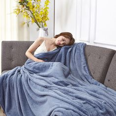 High Density Super Soft Flannel Blanket Sofa Bed Plush Wool Fluffy Pineapple Gri #Unbranded #Asian