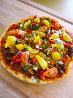 vegan black bean taco pizza