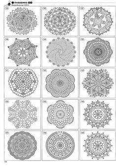 Centrini a uncinetto: schemi e modelli - Esempi di centrini