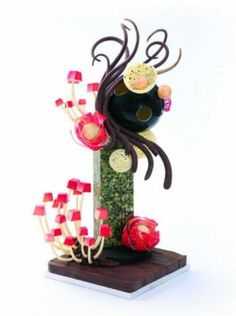 This fantastic showpiece is made entirely from chocolate! Make your own with Mark Tilling at Squires Kitchen's school.