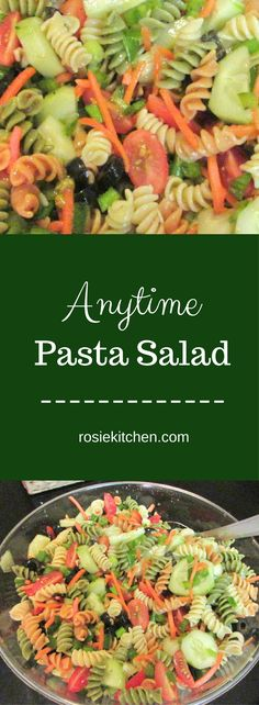 Anytime pasta salad, perfect for any party you plan on throwing  #pasta#pastasalad#party#partyfood