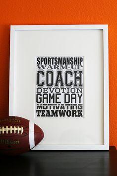 Coach - Sports Subway Art - free printable