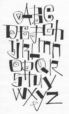 ✍ Sensual Calligraphy Scripts ✍ initials, typography styles and calligraphic art - fun alphabet