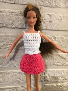 Irresistible Crochet a Doll Ideas. Radiant Crochet a Doll Ideas. Crochet Barbie Clothes, Doll Clothes, Crochet Toys, Free Crochet, Barbie Dress, Dress Up, Barbie Patterns, Bear Toy, Barbie And Ken