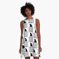 'For that reason, I am out . shark tank' A-Line Dress by RIVEofficial
