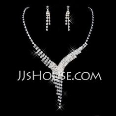 Jewelry - $18.99 - Elegant Alloy With Rhinestone Ladies' Jewelry Sets (011026992) http://jjshouse.com/Elegant-Alloy-With-Rhinestone-Ladies-Jewelry-Sets-011026992-g26992