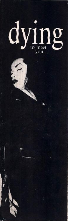 I only wish I could have met Maila Nurmi. The role she played as Vampira was smashing.
