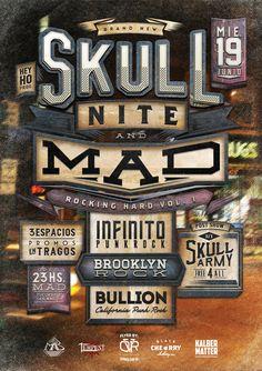 Skull Nite & Mad by Overloaded design