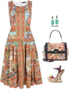 44566a89efc Dolce Gabbana Sicilian empire line dress
