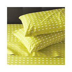 Marimekko Kullervo Citron King Sheet Set