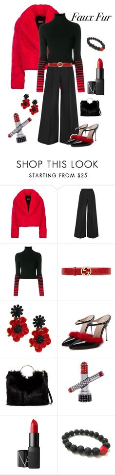 """Faux Fur"" by kotnourka ❤ liked on Polyvore featuring Antonio Berardi, Tommy Hilfiger, Gucci, Kate Spade, T-shirt & Jeans, Marc Jacobs and NARS Cosmetics"