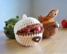 Modèle de crochet, crochet d'Apple Motif Cozy, Motif Cover Apple, Fruit Motif Cozy, modèle Crochet facile, Ferme Rustique Nature