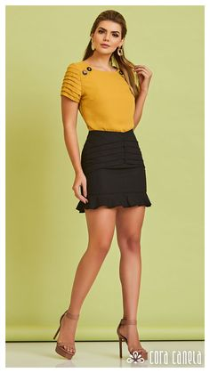 LOOK BOOK 9 – Cora Canela Fashion Jobs, Fashion Outfits, Womens Fashion, Nice Dresses, Casual Dresses, Short Dresses, Short Kurti Designs, Classy Work Outfits, Neck Designs For Suits
