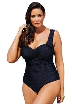 Women's Plus Size Tropiculture Crossover Maillot >>> Insider's special review you can't miss. Read more  : Plus size swimwear