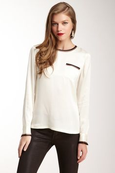 Liam Pocket Silk Blouse on HauteLook