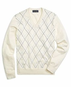 Men's Tattersall V-Neck Sweater