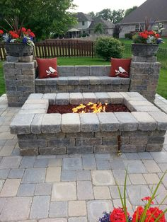 ✔ 60 small paver patio ideas pictures with fire pit 7 . - ✔ 60 small paver patio ideas pictures with fire pit 7 area diy - Patio Pavé, Backyard Patio Designs, Backyard Landscaping, Patio Ideas, Firepit Ideas, Backyard Ideas, Backyard Seating, Fence Ideas, Pergola Ideas