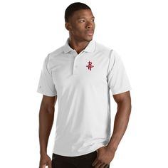 Men's Antigua Houston Rockets Merit Polo, Size: Medium, White Oth