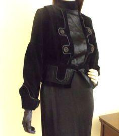 Antique Edwardian Jacket Black Velvet with by Vintagedustshop, $119.00