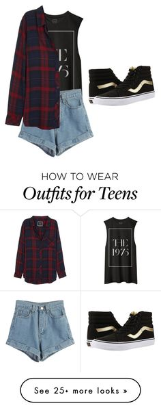 """Untitled #1394"" by vireheart on Polyvore featuring WithChic, Rails and Vans"