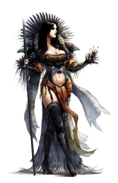 Female Human Shaman or Oracle - Pathfinder PFRPG DND D&D d20 fantasy