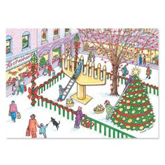 125 best interfaith greeting cards chrismukkah and interfaith cards interfaith village scene lets celebrate together holiday greeting cards available on mixedblessing m4hsunfo