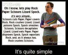 Rock Paper Scissors Lizard Spock : ♥ Sheldon