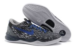 e10bbd31d28f Cheap Nike Zoom Kobe 8 VIII Black Grey Blue Mens Basketball Shoes Dark