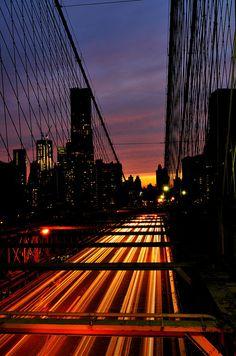 Sunset Brooklyn Bridge, NYC