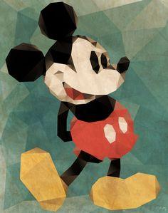 Mr. Mickey Mouse Art Print
