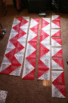 dresdencarrie: chevron table cloth/quilt top  @Ann Flanigan Flanigan Reynolds Sands