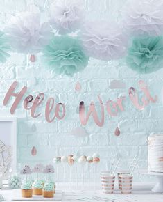 Beautiful decoration ideas and inspiration for the babyshower.
