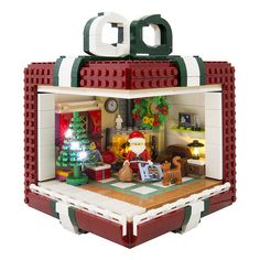 Getting dizzy about a gift in a gift The Brothers Brick - Kids - Lego - Lego Disney, Lego Christmas Village, Lego Winter Village, Lego Minecraft, Minecraft Skins, Minecraft Buildings, Lego Design, Pokemon Lego, Lego Gingerbread House