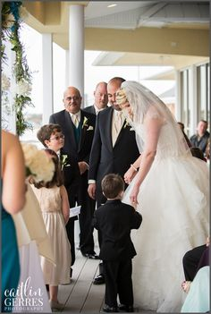 Incorporating the kids into the wedding ceremony. After all, it's a joining of the whole family! - Lesner Inn Virginia Beach Wedding