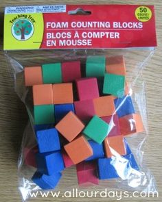 Foam Blocks from the Dollar Tree