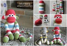DIY Crochet Amigurumi Scimmia del calzino