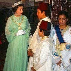 La reine Elisabeth et SM le roi Mohamed6