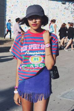 The 39 Best Street-Style Snaps From L.A.'s FYF Fest #refinery29 http://www.refinery29.com/2015/08/92834/fyf-fest-2015-street-style-pictures#slide-22  Very Fresh Prince of Bel-Air. ...