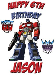 Transformers Boys T-shirt Optimus Prime Rosto Royal Tee