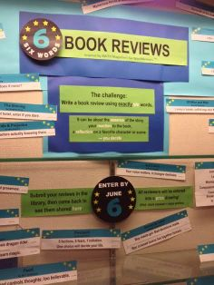 Library Displays: Six Words