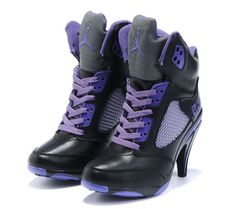 detailed look e8fa0 f6c81 Women Nike Shoes Womens Air Jordan 5 Black Purple Grey Boots  Womens Air  Jordan 5 Boots - Graceful Womens Air Jordan 5 Black Purple Grey Boots  showed here ...