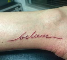 Powerful words ... Not to be forgotten (ankle tattoo)