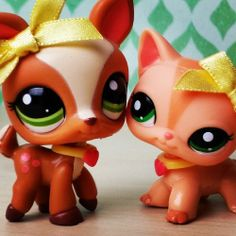 littlest pet shop deer and cat