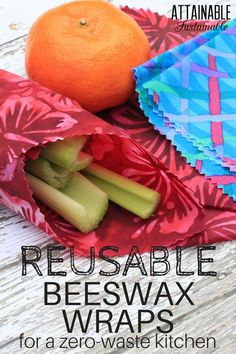 Cutting back on disposable plastic is easy with these DIY beeswax wraps. Here's how to make your own for a more eco-friendly green kitchen. Great for school lunch, too.