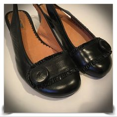 """Beautiful Leather Sling Back Flats by MIZ MOOZ These shoes are so well made! Had a pair of MIZ Mooz and wore them for YEARS; this pair is black leather with a 1"""" heel in size 7.5; Excellent condition, barely worn. Miz Mooz Shoes Flats & Loafers"""