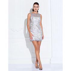 Cocktail Party/Holiday/Prom Dress A-line/Princess Bateau Short/Mini Stretch Satin Dress – AUD $ 109.59